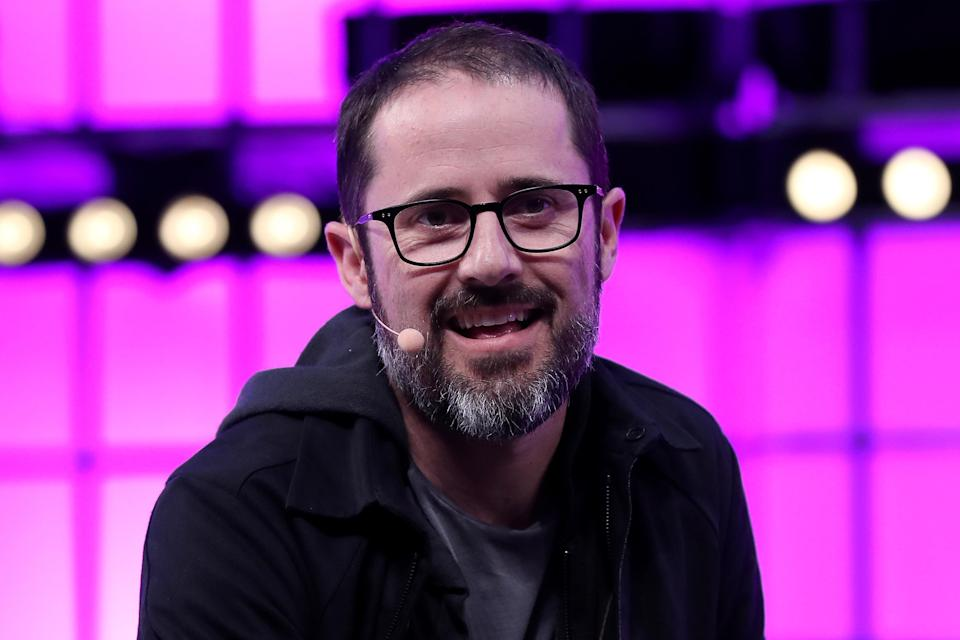 Medium Founder & CEO Ev Williams speaks during the Web Summit 2018 in Lisbon, Portugal on November 8, 2018. ( Photo by Pedro Fiúza/NurPhoto via Getty Images)