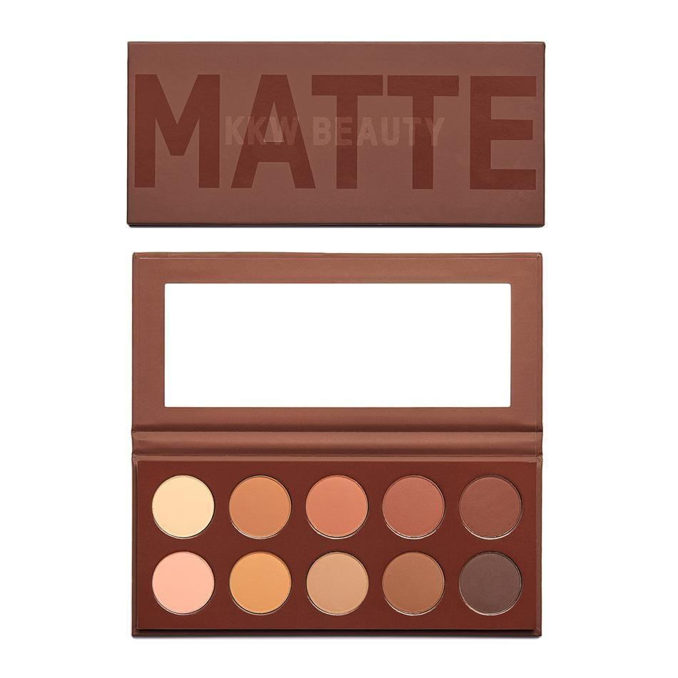 """<p>For a neutral look, this <a href=""""https://www.popsugar.com/buy/KKW-Beauty-Matte-Cocoa-Eyeshadow-Palette-481947?p_name=KKW%20Beauty%20Matte%20Cocoa%20Eyeshadow%20Palette&retailer=kkwbeauty.com&pid=481947&price=45&evar1=bella%3Aus&evar9=46721492&evar98=https%3A%2F%2Fwww.popsugar.com%2Fbeauty%2Fphoto-gallery%2F46721492%2Fimage%2F46721494%2FKKW-Beauty-Matte-Cocoa-Eyeshadow-Palette&list1=eye%20shadow%2Cbeauty%20products%2Cmakeup%20palettes&prop13=mobile&pdata=1"""" rel=""""nofollow"""" data-shoppable-link=""""1"""" target=""""_blank"""" class=""""ga-track"""" data-ga-category=""""Related"""" data-ga-label=""""https://kkwbeauty.com/products/matte-cocoa-palette"""" data-ga-action=""""In-Line Links"""">KKW Beauty Matte Cocoa Eyeshadow Palette</a> ($45) reigns supreme for its variety of warm-toned brown shades.</p>"""