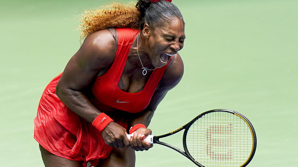Serena Williams, pictured here in action during her match against Tsvetana Pironkova at the US Open.