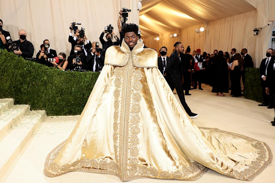 """<h1 class=""""title"""">Lil Nas X, The 2021 Met Gala Celebrating In America: A Lexicon Of Fashion - Arrivals</h1><cite class=""""credit"""">Getty</cite>"""