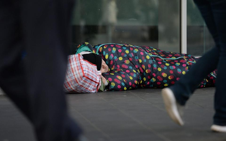 A rough sleeper in London - Nick Ansell /PA