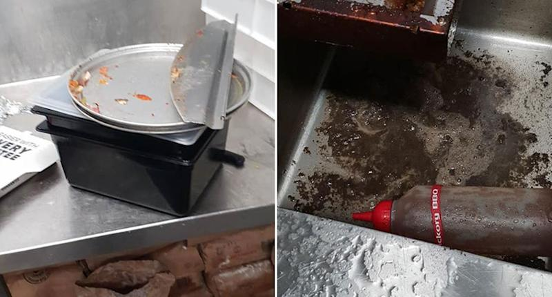 A Domino's store in Lismore has been forced to close its doors temporarily after a disgruntled former employee posted photos of filthy conditions inside the restaurant's kitchen. Source: Facebook/ Lismore