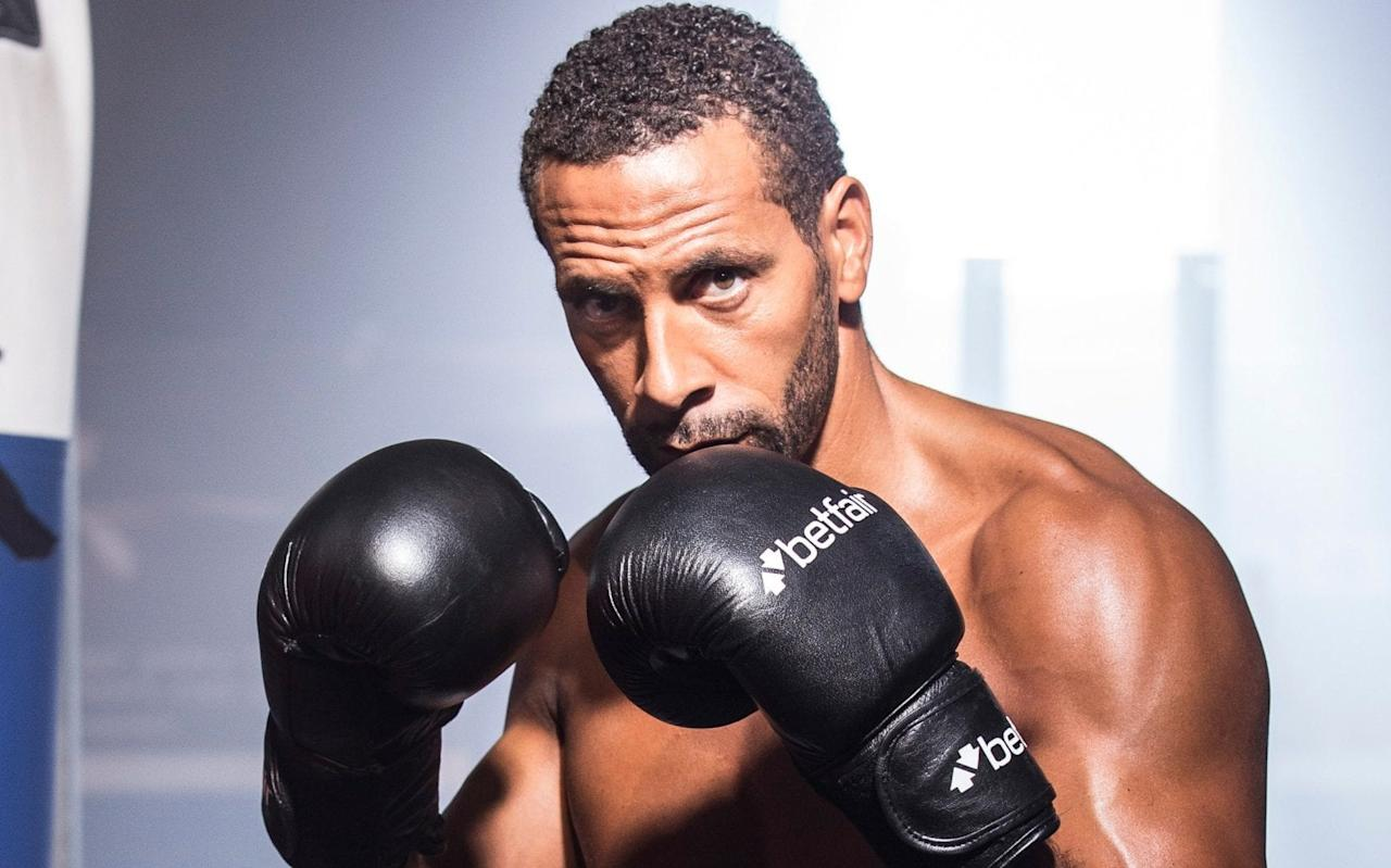 "Rio Ferdinand, the former Manchester United and England captain, is to attempt to become a professional boxer. The 38-year-old has confirmed he is taking up the sport in what had been billed as a ""major news announcement"". Ferdinand will try to follow in the footsteps of Conor McGregor, the Ultimate Fighting Championship star who last month lost to Floyd Mayweather on his boxing debut. He will also seek to emulate Curtis Woodhouse, the former Sheffield United midfielder who went on to a successful boxing career, becoming British lightwelterweight champion. Woodhouse tweeted his support on Monday night, saying: ""Wish Rio Ferdinand all the very best if he decides to give pro boxing a go. Who is anybody to say what he can or can't do. Live ya life."" Ferdinand, who is hoping to get his British Boxing Board of Control licence with the help of bookmaker Betfair, said on Tuesday morning: ""When Betfair approached me about the Defender to Contender challenge, the chance to prove myself in a new sport was a real draw.   ""Boxing is an amazing sport for the mind and the body. I have always had a passion for it and this challenge is the perfect opportunity to show people what's possible. It's a challenge I'm not taking lightly, clearly not everyone can become a professional boxer, but with the team of experts Betfair are putting together and the drive I have to succeed, anything is possible."" Ferdinand, the BBC and BT Sport pundit, has posted footage of himself this year in boxing training on his Instagram page. In a video uploaded in January, he can be seen doing pad work with former rugby union centre Mel Deane while calling out British boxing stars Anthony Joshua, David Haye and Tony Bellew. Between each flurry of punches, he yells: ""Tony Bellew? I'm here. I'm waiting. I'm ready, pal. Are you ready? ""David Haye, you want some? I'm here, mate. I'm here. Working. ""AJ, we had a holiday together, mate, Dubai. I'll take you out. I will cut you down. I'll take you out, AJ! Come on son! You want some!"" @anthony_joshua dug deep & showed it's great having talent but when all said & done grit & determination in the trenches is what gets you through real testing times. Salute the champ! #klitschko showed real class in defeat too...something I wish I could of had a bit more of if I'm really honest! A post shared by Rio Ferdinand (@rioferdy5) on Apr 30, 2017 at 1:06am PDT In a post alongside a similar video in June, Ferdinand goaded former world heavyweight champion Tyson Fury, saying: ""Boxing Fridays... left right left right... boom! Don't beat round the bush... When ya get ur licence back Tyson Fury?!!"" Ferdinand, who will need a licence himself in order to box professionally, also revealed this summer how keeping himself in shape had helped clear his mind after the death of his wife. Breast cancer claimed the life of Rebecca Ellison two years ago, the same year Ferdinand retired from football. Discussing how his post-retirement fitness regime helped him cope with bereavement, he told Men's Health that it ""enabled me to free my mind"". Boxing session this morning with @meldeane12 ... heavyweight division up for grabs... @tonybellew @mrdavidhaye @anthony_joshua Lets Av It... you want some �������� A post shared by Rio Ferdinand (@rioferdy5) on Jan 11, 2017 at 3:07am PST He said his gym work replicated the ""release time"" football had provided him until he left the game, adding that ""until you start working out regularly, you don't understand it. You don't understand that sometimes that hour, or even that brief 20 minutes you snatch as and when, can be the most chilled out hour or 20 minutes of your day"". ""Without the gym,"" Ferdinand said, ""I don't know where I would've had that release time – that time just to think about nothing, or to think about something other than what was going on in my life."" Ferdinand spoke of the beneficial effect that working out had on his mental health. Ferdinand in training He said: ""I'm simply happier when I'm in the gym and working out, and I think everything else flows better when I'm doing that. It invigorates me and calms me at the same time."" In March, Ferdinand made a BBC documentary that charted his life as a widower. In 'Rio Ferdinand: Being Mum and Dad', the former West Ham United and Leeds United defender allowed cameras into his grieving after a year of silence. In the programme, he discussed the difficulty of taking sole care of his children, Lorenz, Tate and Tia, and talked about men's reluctance to speak about grief. Andrew Flintoff went into the ring in 2012 for a four-round bout in Manchester Credit: ANDREW YATES/AFP/Getty Images Other sports stars to try their hand at boxing include Andrew Flintoff, who beat American Richard Dawson in a four-round heavyweight contest in 2012. Outside the ring, former Olympic cycling queen Victoria Pendleton took up horse racing in 2015 with the aim of riding at Cheltenham Festival the following year. She went on to finish an impressive fifth in the 2016 Foxhunter Chase. Woodhouse had words of caution for Ferdinand, posting. ""The training and everything didn't take me by surprise but I found learning the technical side of the game really difficult,"" he said. ""There's a lot of things go on in a boxing ring that you don't realise until you get in there. It takes a long, long time to feel comfortable in the boxing ring. Your ego will take a bit of a knock. ""He's going to have to get used to a few setbacks along the way. He'll definitely struggle with the technical side of the game."""