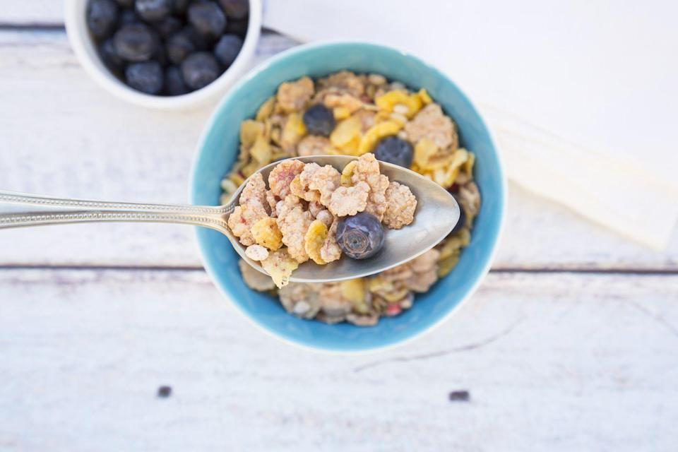<p>Get your crunch on! One cup of this ready-to-eat breakfast favorite that has been fortified with vitamins and minerals will contain around 40 IU of vitamin D. Yet cereals made with whole grains are likely to have even a higher dose of the sunshine vitamin. Add in one serving of milk and you can double - possibly triple - your vitamin D intake.</p>