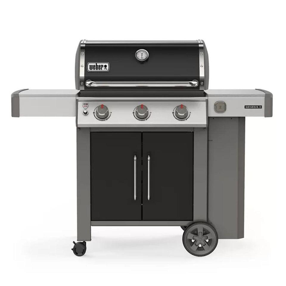 """<p><strong>Weber</strong></p><p>wayfair.com</p><p><a href=""""https://go.redirectingat.com?id=74968X1596630&url=https%3A%2F%2Fwww.wayfair.com%2Foutdoor%2Fpdp%2Fweber-genesis-ii-e-315-3-burner-gas-grill-w004324522.html&sref=https%3A%2F%2Fwww.bestproducts.com%2Flifestyle%2Fg36490432%2Fgrill-accessories-sale-memorial-day-2021%2F"""" rel=""""nofollow noopener"""" target=""""_blank"""" data-ylk=""""slk:Shop Now"""" class=""""link rapid-noclick-resp"""">Shop Now</a></p><p><strong><del>$979.00</del> $779.00 (20% off)</strong><br><br>The Weber Genesis II E-315 combines a durable build quality, superior grilling performance, and a convenient cabinet which adds enclosed storage space for all your tools to keep them protected against the elements. Its backed by a generous 10-year warranty.</p>"""