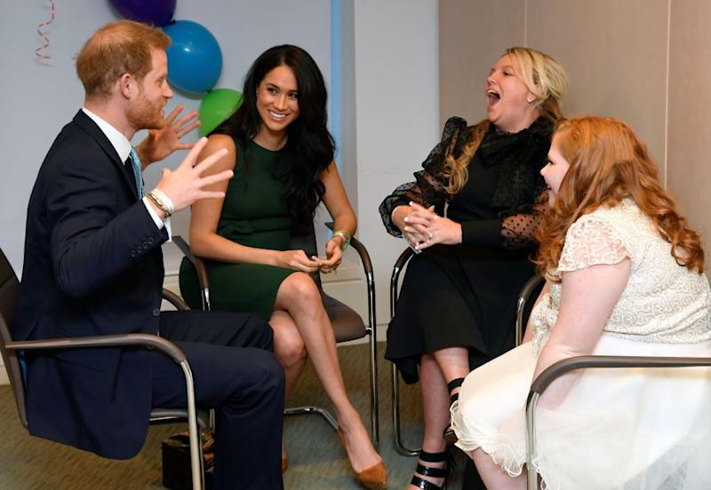 The royal couple were chatting to award winner Milly and her mother Angela [Photo: Getty]
