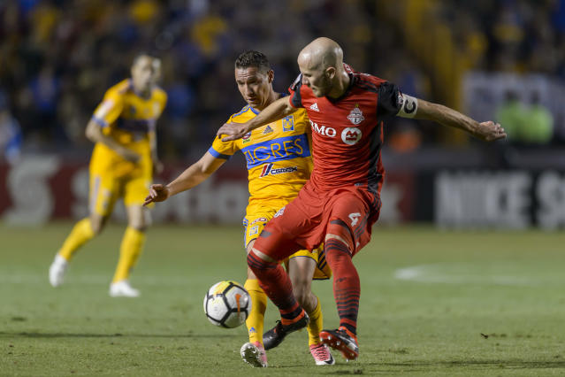 "<a class=""link rapid-noclick-resp"" href=""/soccer/players/372615/"" data-ylk=""slk:Michael Bradley"">Michael Bradley</a> and <a class=""link rapid-noclick-resp"" href=""/soccer/teams/toronto-fc/"" data-ylk=""slk:Toronto FC"">Toronto FC</a> finished as runners-up in last year's Scotiabank CONCACAF Champions League. (Getty)"