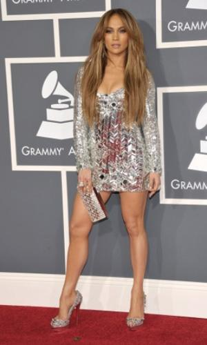 Jennifer Lopez: The hands-down queen of glam flaunted her impossibly toned stems in a glittery getup from head to toe. Serious attitude required. Photo by: John Shearer/WireImage