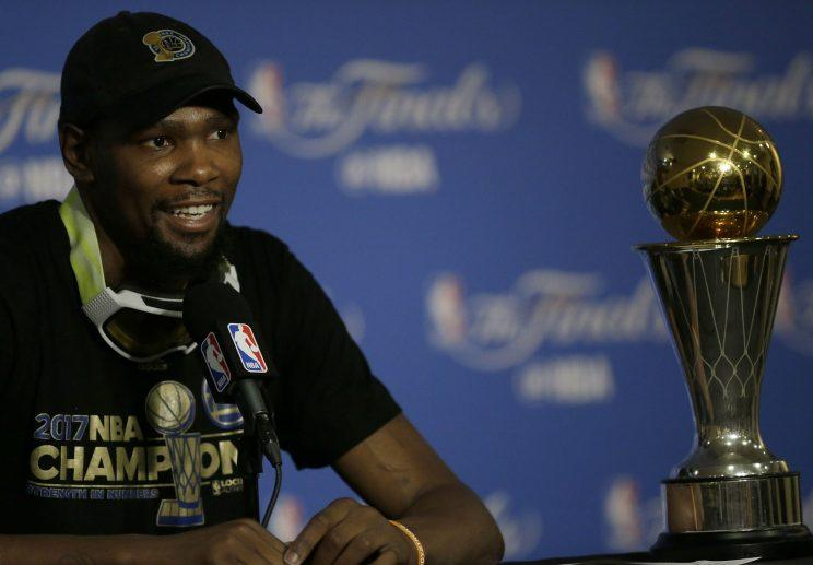 Kevin Durant has options when it comes to how he'll remain with the Warriors. (AP)
