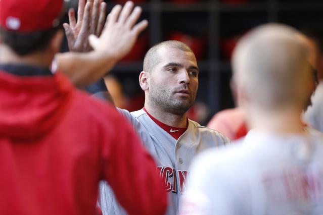 "Reds first baseman <a class=""link rapid-noclick-resp"" href=""/mlb/players/7946/"" data-ylk=""slk:Joey Votto"">Joey Votto</a> boosted his MVP credentials by reaching base 321 times during the season. (Getty)"