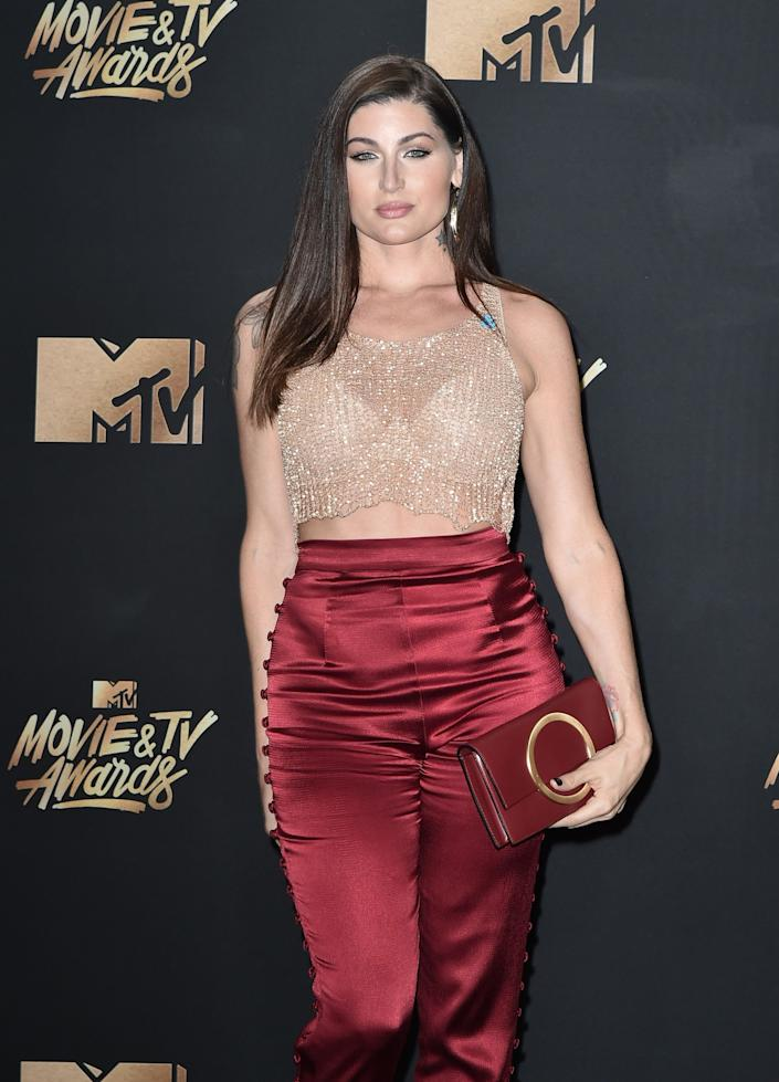 Actor Trace Lysette attends the 2017 MTV Movie And TV Awards at The Shrine Auditorium on May 7, 2017 in Los Angeles, California.