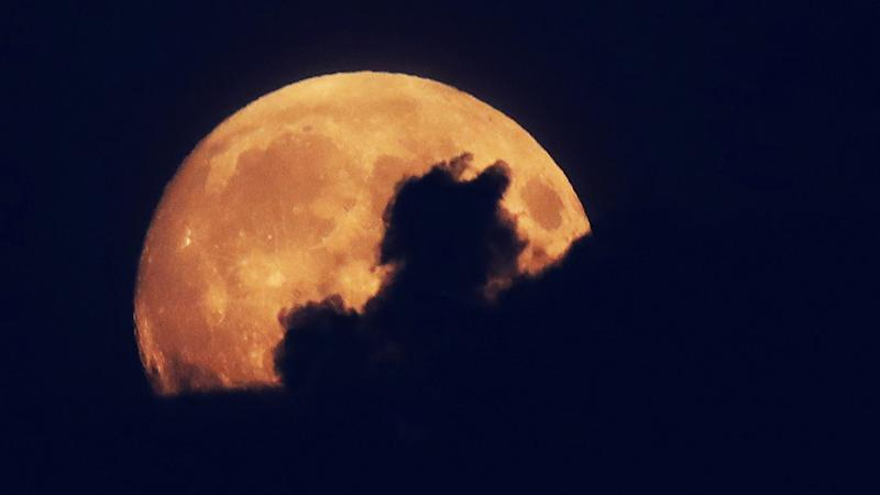 The blood moon is a rare lunar event.