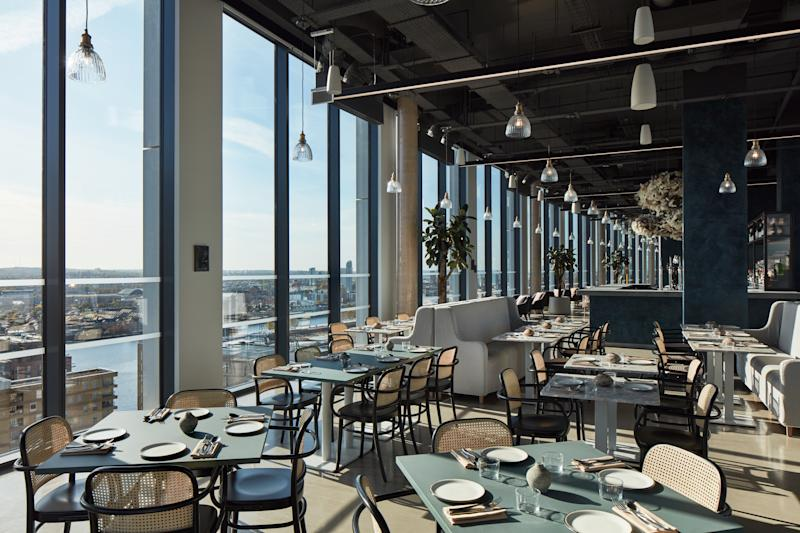 Mthr restaurant on the 20th floor of The Collective Canary Wharf.