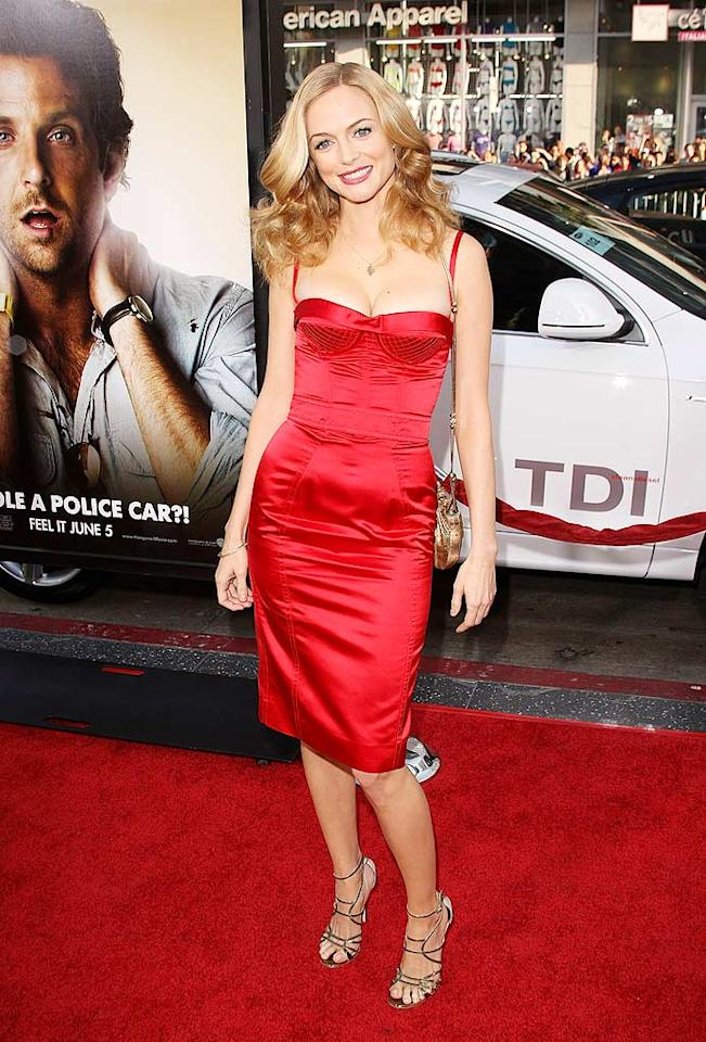 """Heather Graham was also on hand for the """"Hangover"""" debut. The woman best known for her role as Roller Girl in """"Boogie Nights"""" opted for a figure-defining Dolce and Gabbana corset dress and flawless $735 Jimmy Choo """"Flynn"""" sandals. Jason Merritt/<a href=""""http://www.gettyimages.com/"""" target=""""new"""">GettyImages.com</a> - June 2, 2009"""
