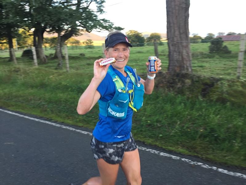 Runner Carla Molinaro ran from Land's End to John o' Groats in 12 days 30 minutes 14 seconds