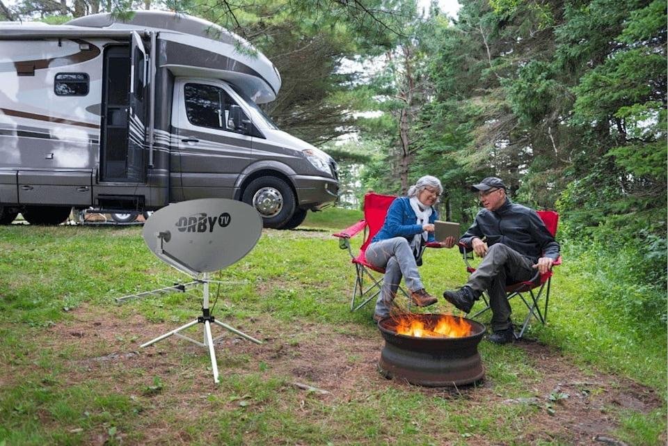 Orby TV with an RV