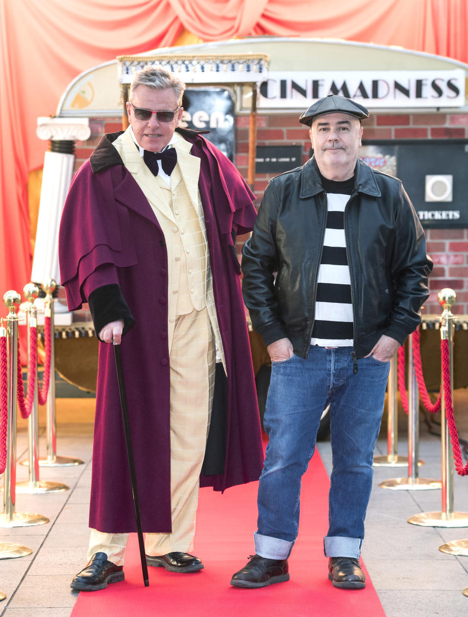 Suggs and Chris Foreman took questions following the screening (Ian West/PA)
