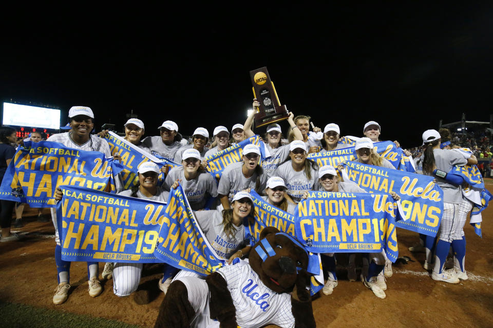 Best sport: softball, beach volleyball (national champions). Trajectory: down. It's never a bad year when you win two team national titles, but the Bruins did slide slightly from No. 2 in 2018 to No. 6 in '19. Spring sports provided the bulk of UCLA's points, but the baseball team did not make the College World Series after entering the postseason ranked No. 1 nationally. Women's sports carried the Bruins, with both national championships and big seasons from soccer, gymnastics, tennis and water polo.
