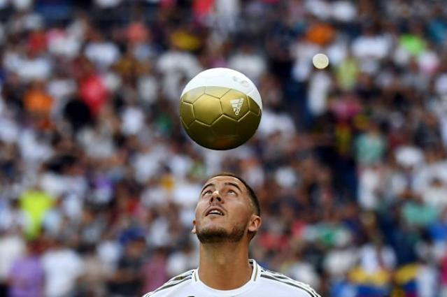 Eden Hazard was introduced to Real Madrid fans in July but has yet hit his stride at the club (AFP Photo/GABRIEL BOUYS )
