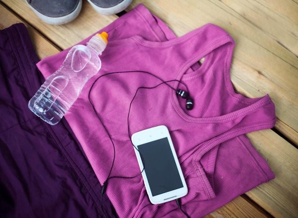 Workout gear with phone