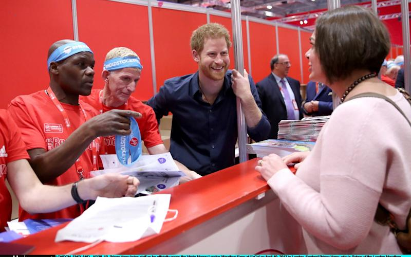 Prince Harry marathon launch - Credit: Getty Images