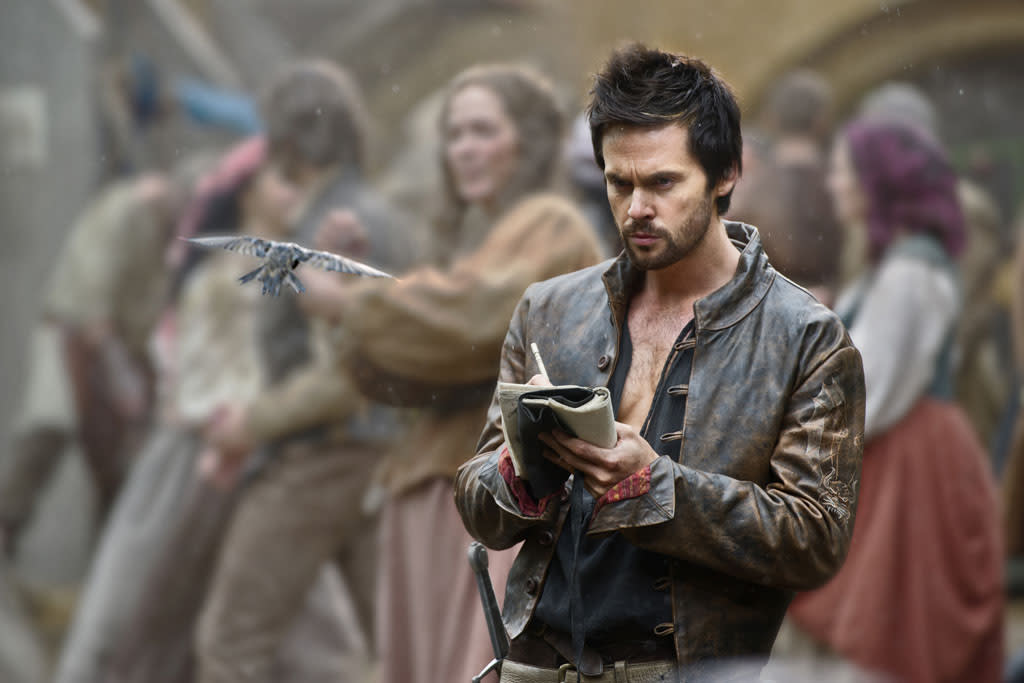 "Leonardo Da Vinci (Tom Riley) in ""Da Vinci's Demons"" on Starz."
