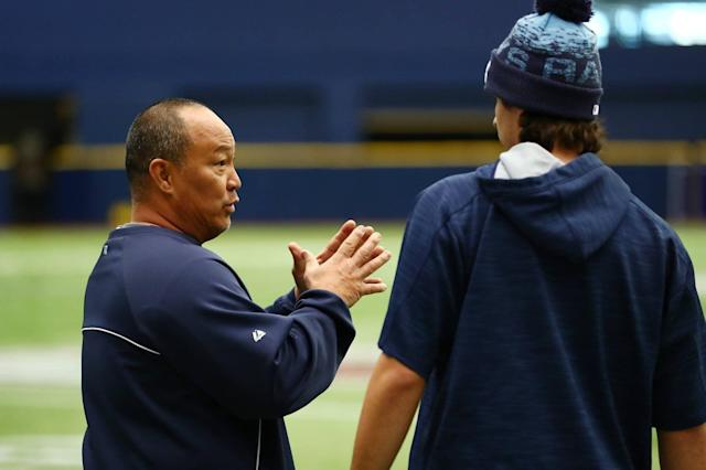 "Trung Cao has been described as the ""totally unsung hero"" by Chaim Bloom, Rays senior vice president, baseball operations. (Photo by Kevin Sabitus / Tampa Bay Rays)"