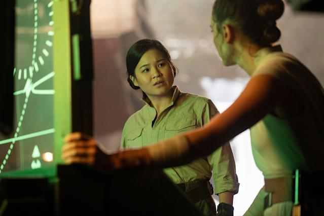 Rose Tico (Kelly Marie Tran) would have played a much bigger role in the original Episode IX script, <em>Duel of the Fates</em>. (Photo: Jonathan Olley / © Walt Disney Studios Motion Pictures / © Lucasfilm / courtesy Everett Collection)