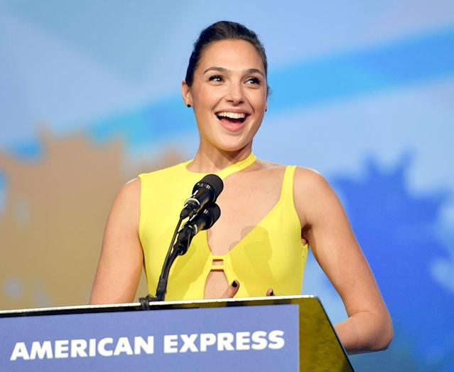 <p>The <em>Justice League</em> badass just keeps on proving what a wonder woman she really is. She accepted the Rising Star award at the 29th Annual Palm Springs International Film Festival Awards on Tuesday. (Photo: Matt Winkelmeyer/Getty Images for Palm Springs International Film Festival) </p>