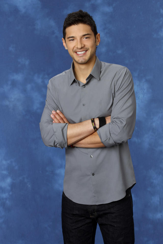 "Alejandro, 25, a mushroom farmer from San Francisco, CA is featured on the eighth edition of ""<a href=""http://tv.yahoo.com/bachelorette/show/34988"">The Bachelorette</a>."""