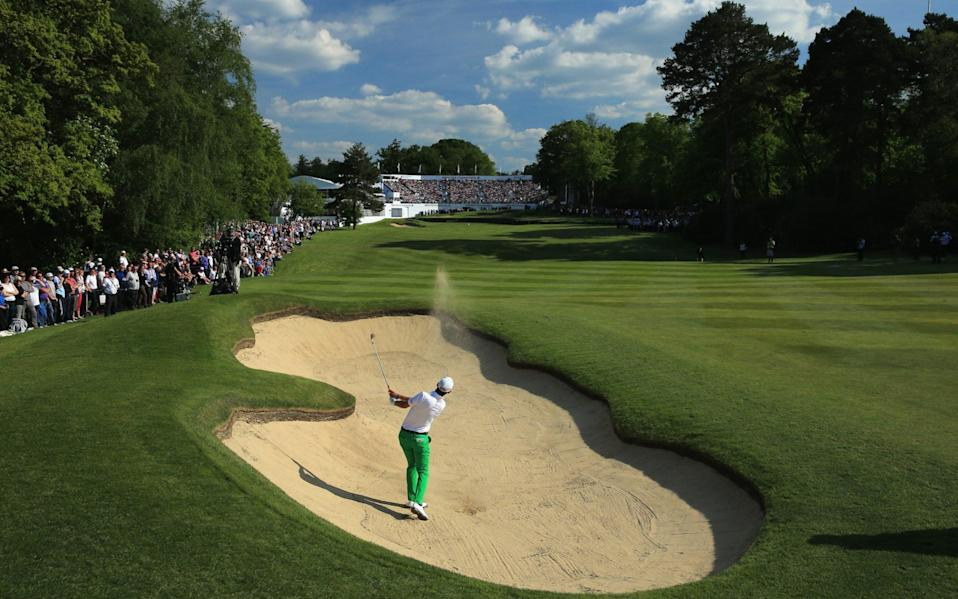 the final round of the BMW PGA Championship on the West Course at Wentworth -European Tour set to make history with three back-to-back tournaments in Florida - GETTY IMAGES