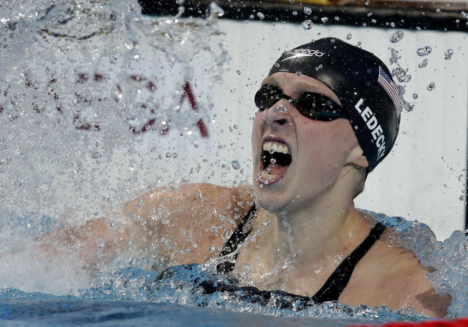Katie Ledecky may be the most dominant athlete of her generation. (AP Photo)