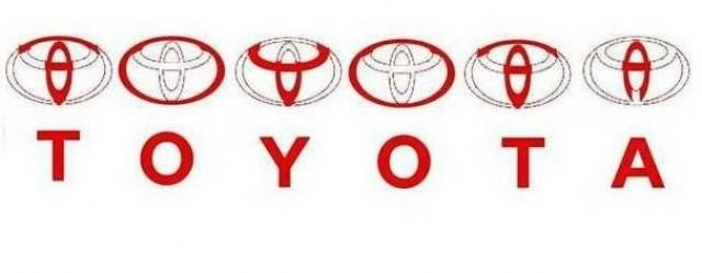 Toyota, spelled out in ovals.