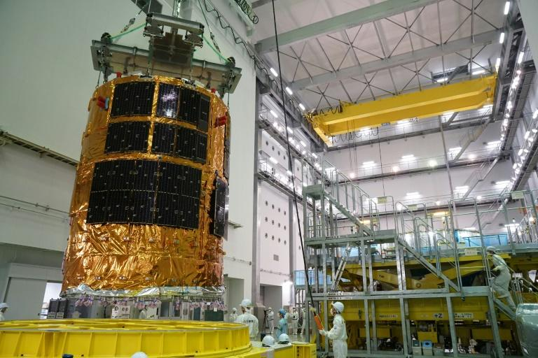 "Japan's unmanned cargo spacecraft, ""Kounotori"" is to blast off from the southern island of Tanegashima around 10:30 pm local time attached to an H-IIB rocket"