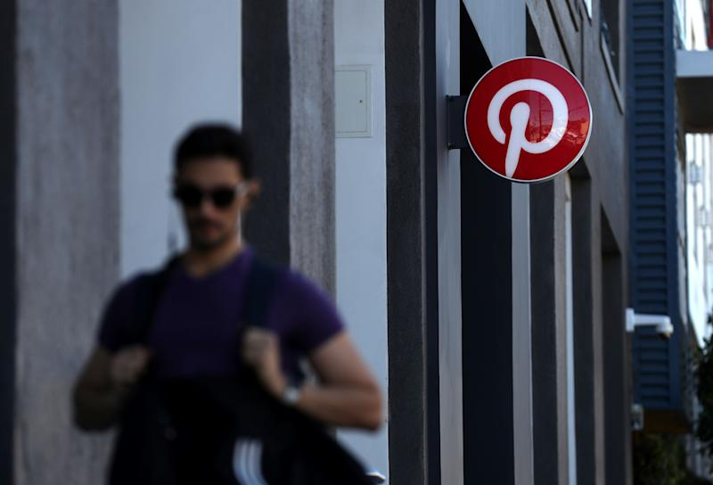 SAN FRANCISCO, CALIFORNIA - APRIL 09: A pedestrian walks by the Pinterest headquarters on April 09, 2019 in San Francisco, California. Social sharing site Pinterest is preparing for its initial public offering (IPO) and is planning to offer 75 million shares with a listing price of $15 to $17 per share. (Photo by Justin Sullivan/Getty Images)