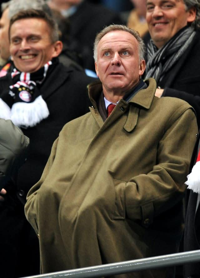 Karl Heinz Rummenigge welcomed the news that the Bundesliga was clear to resume (Martin Rickett/PA)