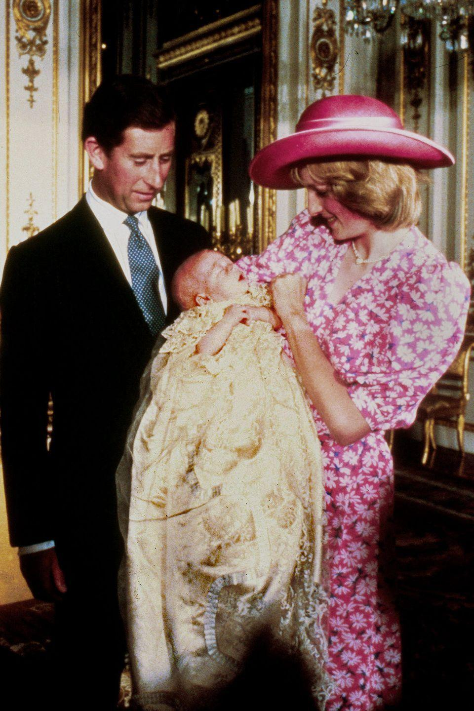 <p>Celebrating the christening of Prince William at Buckingham Palace. </p>