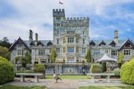 """<p>The exterior shots of Oliver Queen's mansion are <a href=""""http://hatleycastle.com/movies/"""" rel=""""nofollow noopener"""" target=""""_blank"""" data-ylk=""""slk:filmed"""" class=""""link rapid-noclick-resp"""">filmed</a> at the Hatley Castle, located in the Hatley Park National Historic Site located in Colwood, British Columbia. It's the castle popularly known as Luthor Mansion on <em>Smallville</em>.</p>"""