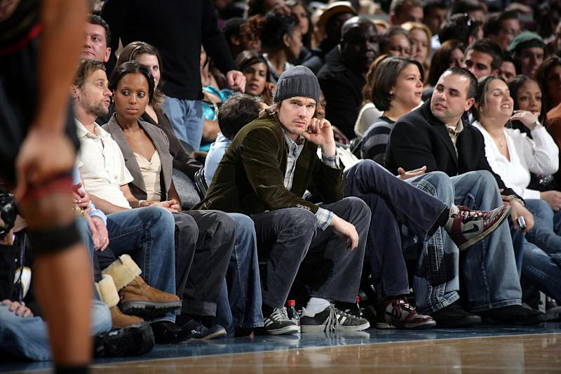 Multi Millionaire Actor Ethan Hawke Stops Attending Knicks Games Because MSG No Longer Offers Hawke Free Seats, Cheap Progressive Thinker Won't Deign To Pay $7800, Memo To Whiny Pretentious Actor, If You Are Offended The Knicks Want You To Now Open Your Wallet Because Knicks Owner Dolan Is A Whiny Baby, Purchase Two Tickets And Give Them To Knicks Fans Who Are Dealing With Tragic Circumstances