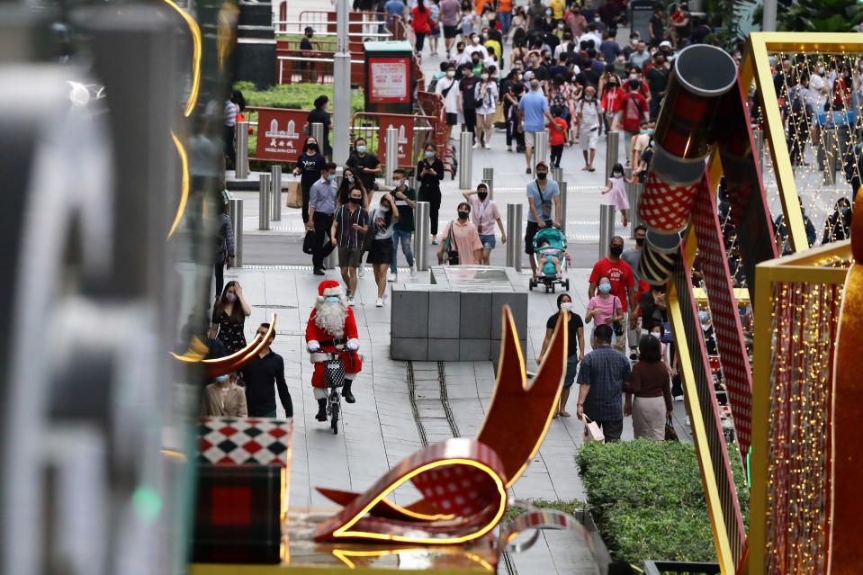 Singapore's Orchard Road shopping belt.