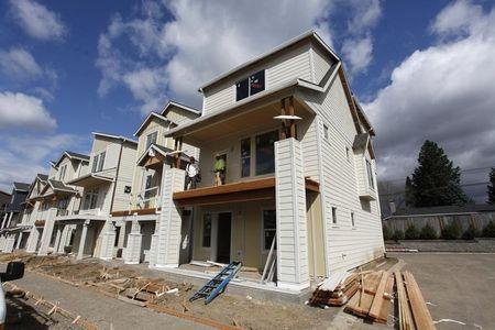 Homes are seen for sale in the southwest area of Portland, Oregon