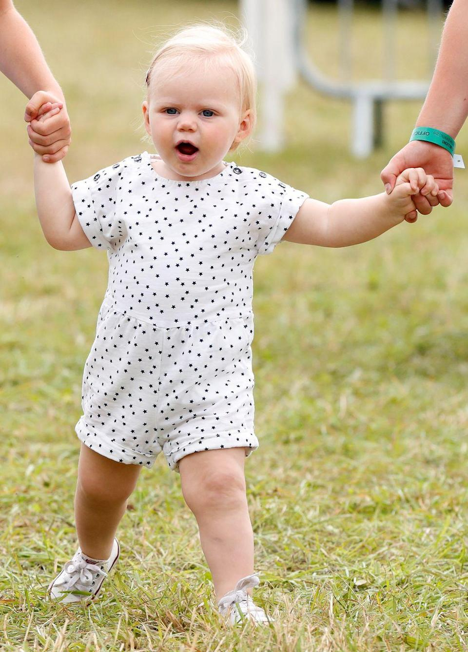 """<p><strong>What's her full name? </strong>Lena Elizabeth Tindall.</p><p><strong>Who's she named after? </strong>Another Elizabeth! The Queen's name is clearly very popular. </p><p><strong>Her parents are: </strong><a href=""""https://www.cosmopolitan.com/uk/interiors/a35382850/zara-mike-tindall-home-unlike-royal-homes/"""" rel=""""nofollow noopener"""" target=""""_blank"""" data-ylk=""""slk:Zara (Princess Anne's daughter) and Mike Tindall."""" class=""""link rapid-noclick-resp"""">Zara (Princess Anne's daughter) and Mike Tindall.</a></p>"""