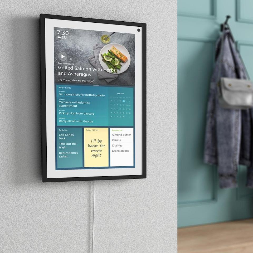 The Echo Show 15 is designed to be a family planning hub. (Amazon)