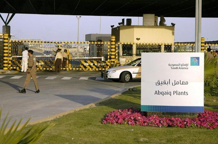 In February 2006 the Abqaiq facility of the Saudi state oil giant Aramco was targeted by suicide bombers in an attack which left two security guards dead (AFP Photo/STRINGER)