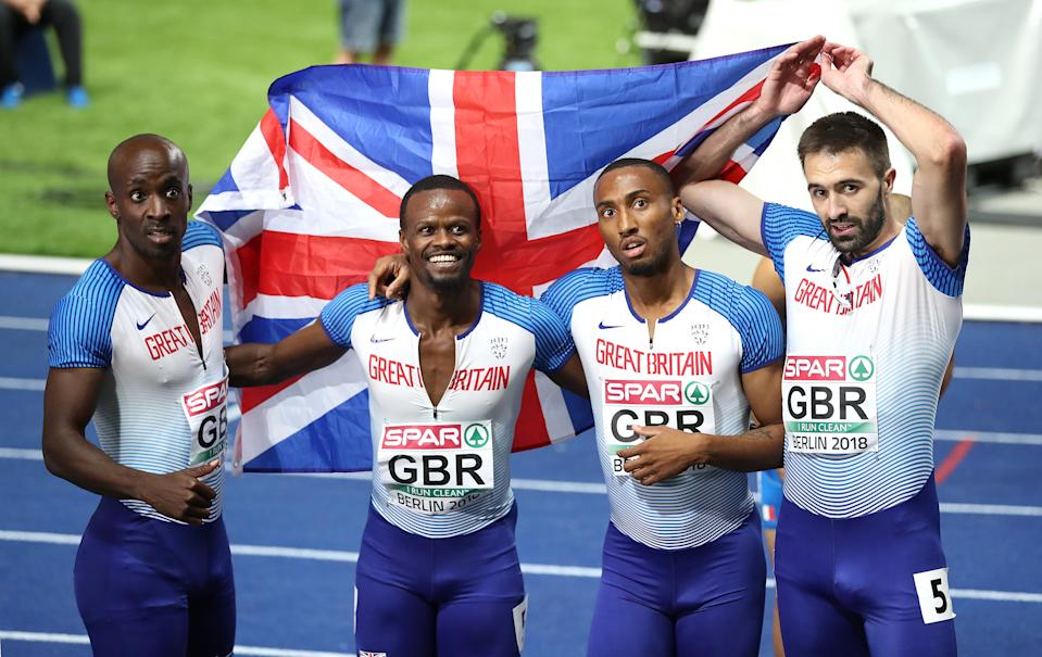Great Britain's Men's 4x400m relay team won silver at the 2018 European Championships. (Credit: Getty Images)