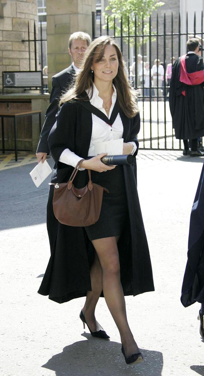 <p>At the University of St. Andrews graduation ceremony in 2005. </p>