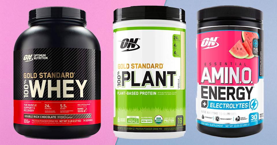 Optimum Nutrition protein powders and energy supplements are on sale — but only for today! (Photo; Amazon)