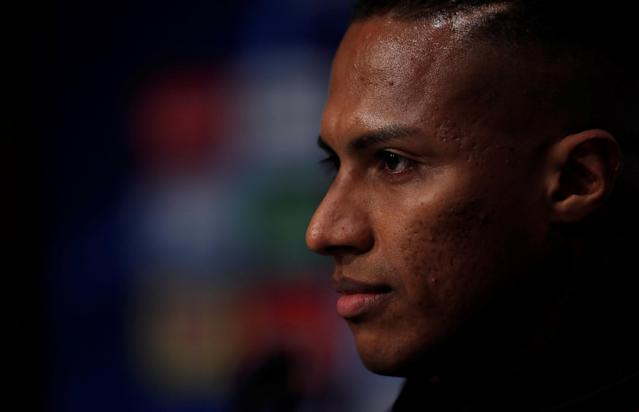 Soccer Football - Champions League - Manchester United Press Conference - Ramon Sanchez Pizjuan, Seville, Spain - February 20, 2018 Manchester United's Antonio Valencia during the press conference Action Images via Reuters/Andrew Couldridge