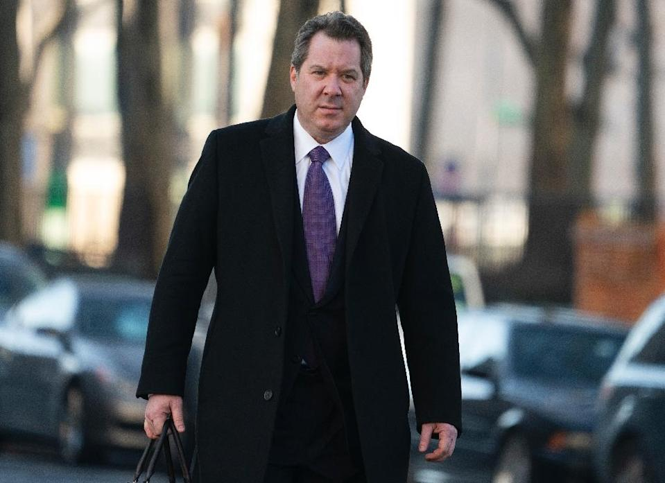 """Jeffrey Lichtman, attorney for Joaquin """"El Chapo"""" Guzman, arrives at the US Federal Courthouse in Brooklyn (AFP Photo/Don Emmert)"""