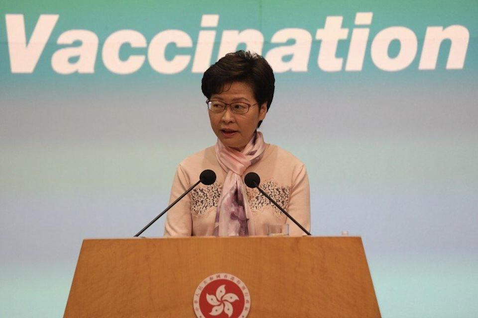 The IMF called for clarity on when Chief Executive Carrie Lam can give direction to the Hong Kong Monetary Authority, saying it could threaten the de facto central bank's independence. Photo: Xiaomei Chen